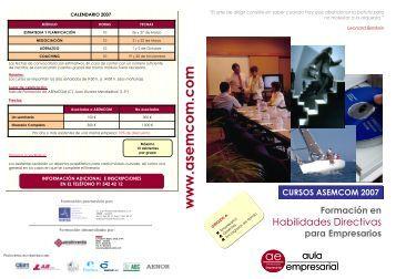 Cursos Habilidades directivas - Asemcom