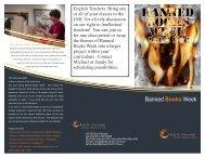 Banned Books Week tri-fold for teachers - LSHS