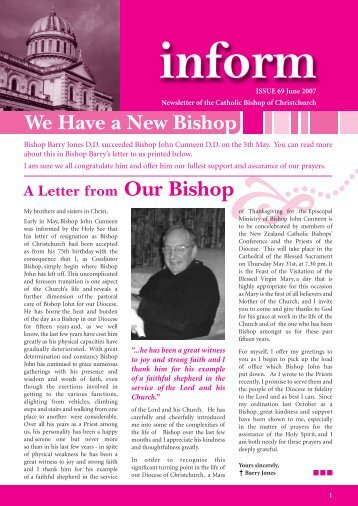 Inform 69.pdf - Catholic Diocese of Christchurch