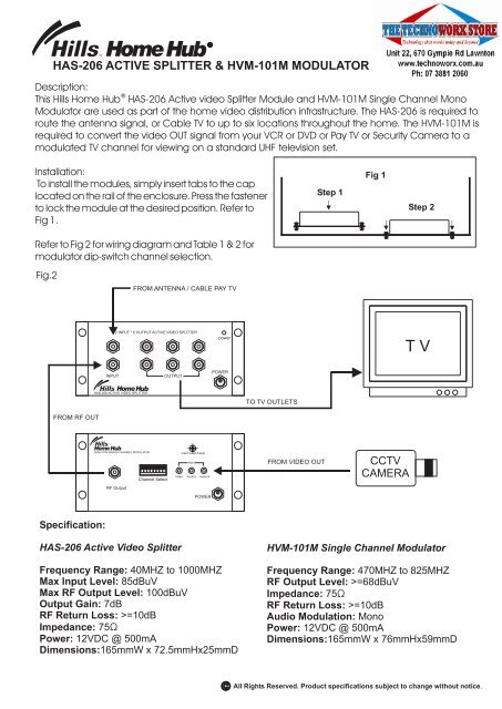 insert cable wiring diagram has 206 active splitter installation manual the technoworx store  active splitter installation manual