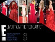 Live! From the red carpet - Bell Media