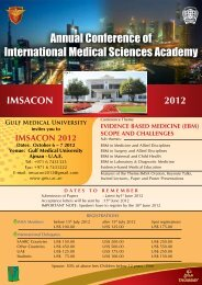 Annual Conference of International Medical Sciences Academy