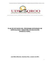 Plan de Estudios - UIMQRoo
