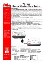 Wireless Remote Vibrating Alarm System - Pertronic Industries Ltd