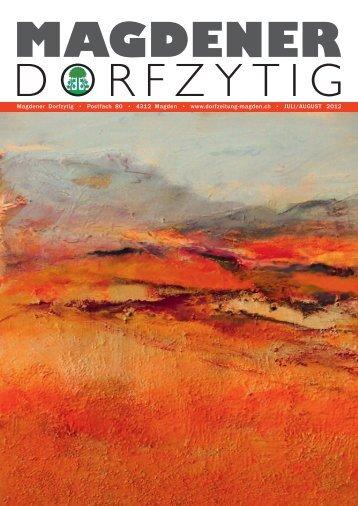 Ausgabe 3/2012 - Magdener Dorfzytig