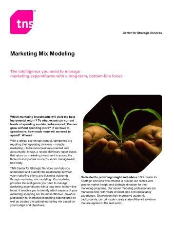 Marketing Mix Modeling - TNS Canada
