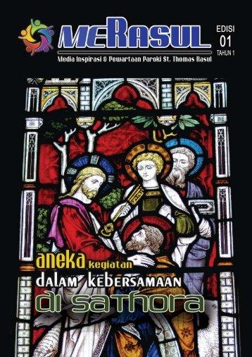 Majalah MeRasul Edisi 01 Tahun 1 - Paroki Santo Thomas Rasul