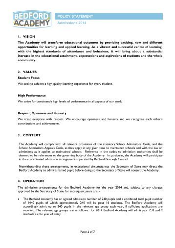 Bedford Academy Admissions Policy 2014.pdf