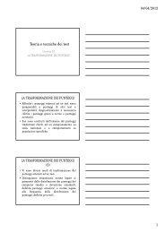 Slides Lezione X (pdf, it, 117 KB, 4/5/12)