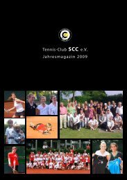 Tennis-Club SCC e.V. Jahresmagazin 2009 - Tennis-Club SCC Berlin