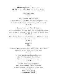 Abendangebot / Dinner menu - unterdenlinden.de