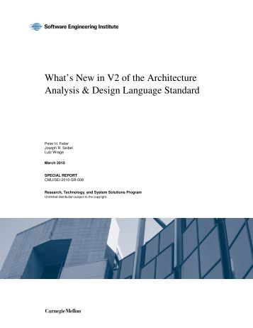What's New in V2 of the Architecture Analysis & Design Language ...