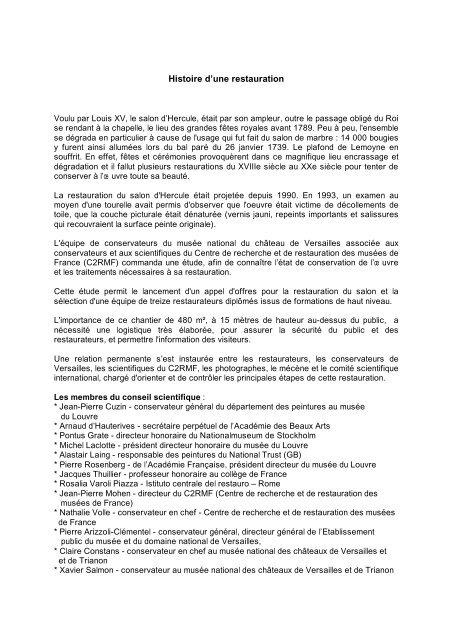 Histoire d'une restauration - BNP Paribas