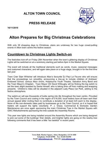 Alton Prepares for Big Christmas Celebrations - Alton Town Council