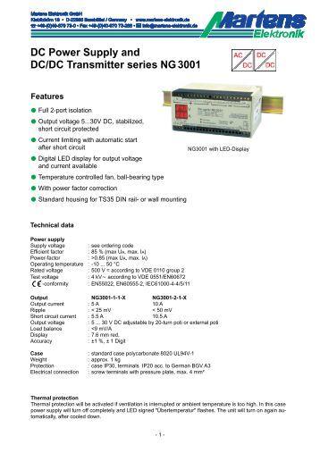 NG3001-01- Prospekt - Martens Elektronik GmbH