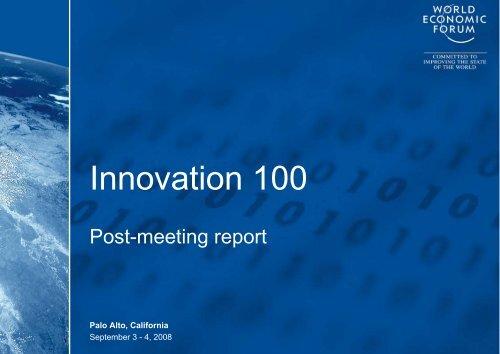 Innovation 100 - The World Economic Forum
