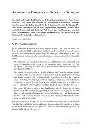 """""""Lichtreicher Rosenkranz"""" – Brücke zur Ostkirche - Kreuzgang"""