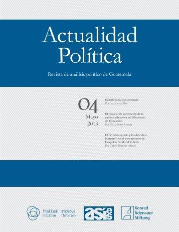 Revista Actualidad Política_No.4_2013 - Asociación de ...