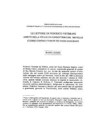 Le lettere del maresciallo Federico Veterani - Europaorientalis.it