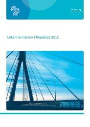 Liikenneviraston tilinpäätös 2012