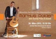 30. März 2012, 19.30 Uhr Zentrum Rössli ... - Markus Dolder