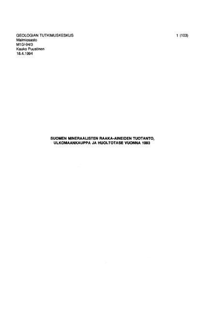s 131 5001 100,o - Arkisto.gsf.fi - Geologian tutkimuskeskus