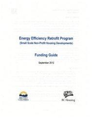 Energy Efficiency Retrofit Program Funding Guide . .. - BC Housing