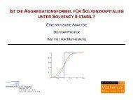 ist die aggregationsformel für solvenzkapitalien unter solvency ii ...