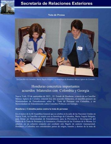 Honduras concretiza importantes acuerdos bilaterales con ...