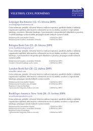 VELETRHY, CENY, PODMÍNKY - Svět knihy