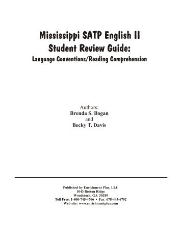 Mississippi SATP English II Student Review Guide - Enrichment Plus