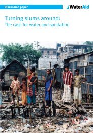 Turning slums around: The case for water and sanitation - WaterAid