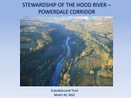 Stewardship of the Hood River Powerdale Corridor