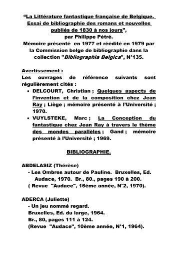 """collection """"Bibliographia Belgica"""", N°135. - IDES et Autres"""