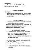 """collection """"Bibliographia Belgica"""", N°135. - IDES et Autres - Page 3"""