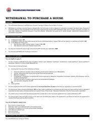 WITHDRAWAL TO PURCHASE A HOUSE - KWSP