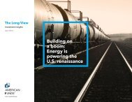 Building on a boom: Energy is powering the U.S. ... - American Funds