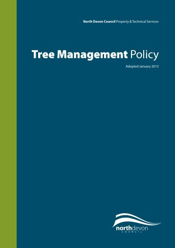 Tree Management Policy - North Devon District Council