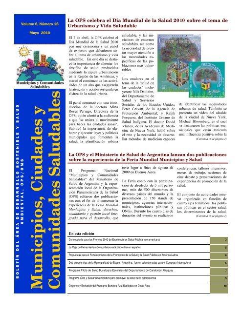 Municipios, Ciudades y Comunidades Saludables - BVSDE