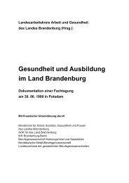 Gesundheit und Ausbildung im Land Brandenburg - Brandenburg.de