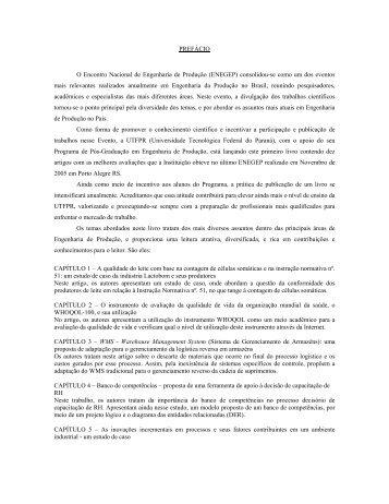 PREFÁCIO O Encontro Nacional de Engenharia de ... - UTFPR
