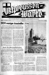 1959 weniger Aussiedler - Archiv Preussische Allgemeine Zeitung