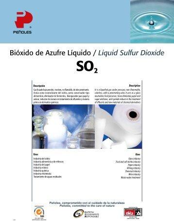 Bióxido de Azufre Líquido / Liquid Sulfur Dioxide