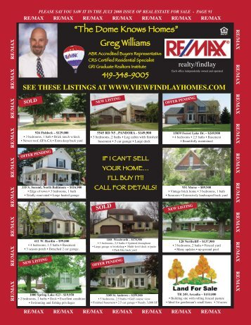 RE/MAX Realty/Findlay-THE WILLIAMS TEAM - Youngspublishing ...