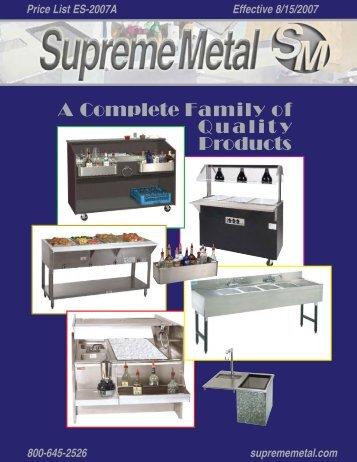 Supreme Metal Product Catalog