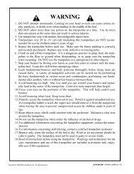 JumpSport Soft-Bounce™ Trampoline User's Manual