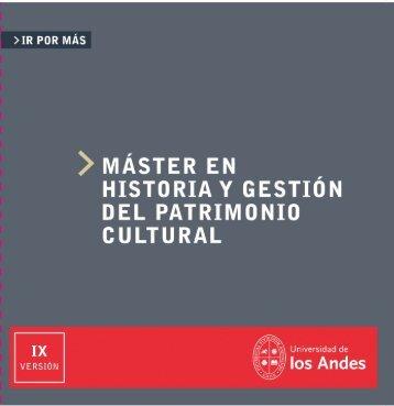 historiay gestion del patrimonio cultural - Universidad de los Andes