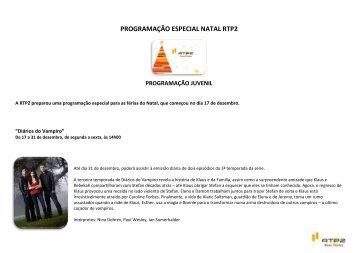 PROGRAMAÇÃO ESPECIAL NATAL RTP2