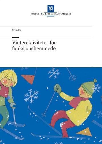 Vinteraktiviteter for funksjonshemmede - Regjeringen.no