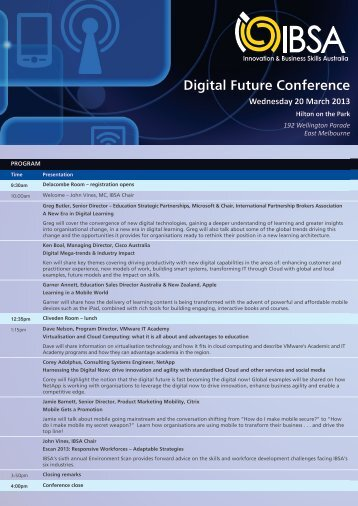 Digital Future Conference - Innovation & Business Skills Australia